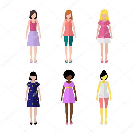 imagenes vectoriales personas conjunto de figuras de ni 241 as estilo plano iconos personas