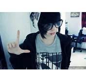 Emo Boy Hairstyle Glasses Cute Fashion