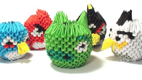 Origami Angry Birds - pin 3d origami angry bird on