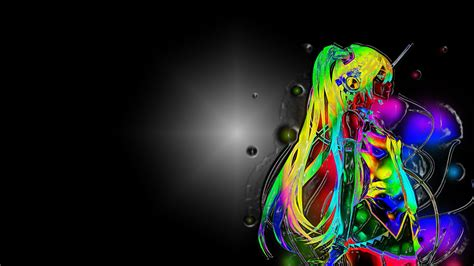 imagenes anime en 3d anime neon in 3d wallpaper and background 1919x1080 id