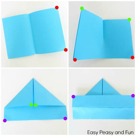 how to make a paper boat beginners how to make a paper boat origami for kids easy peasy