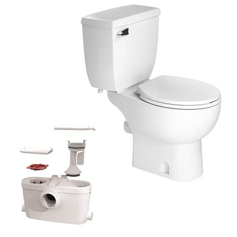 macerator pump for basement bathroom saniflo saniaccess 3 upflush toilet macerator pump included