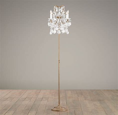 Floor Lamp Dimmer by Manor Court Crystal 4 Arm Floor Lamp Aged Gold