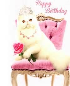 cat birthday princess cat happy birthday greeting card cards