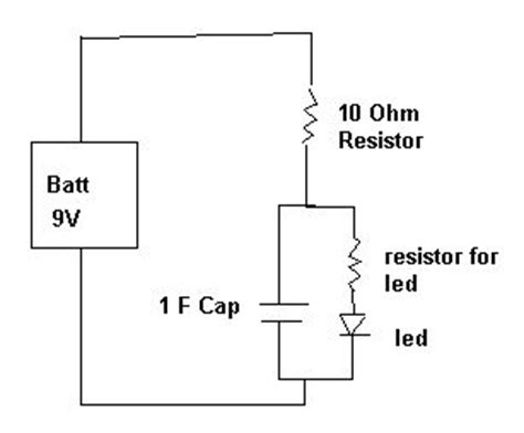 capacitor led delay simple on delay switch circuit