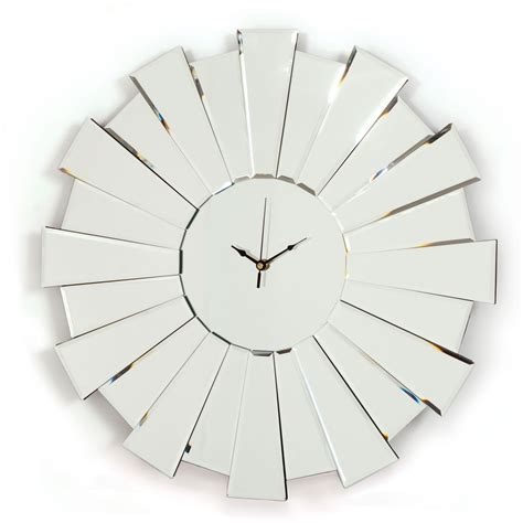 File Compact Modern Fitted starburst art deco mirrored clock for sale in the uk
