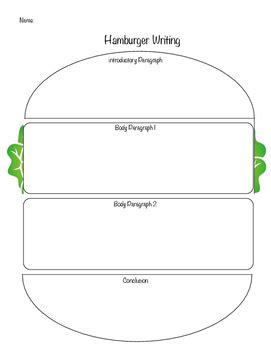 burger writing template hamburger writing 4 paragraph template by give me five tpt