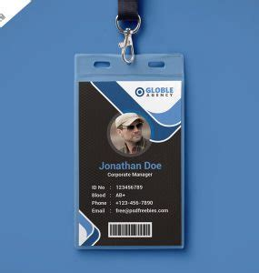 library id card template free modern id card psd psd