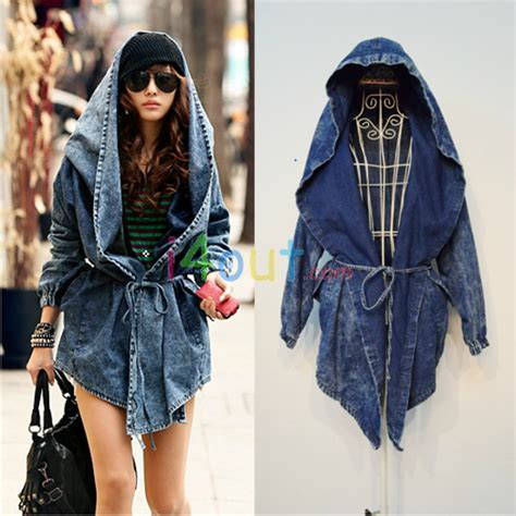 Kaos Hoodie Longline Onstreet Limited Edition new hoodie trench washed drawstring denim jacket coat blazer ebay