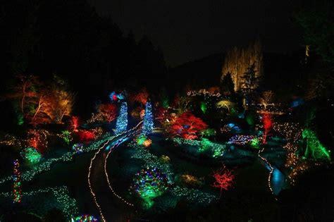 butchart gardens bc light display