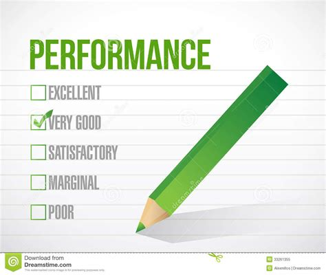design performance graphics inc very good performance review illustration stock