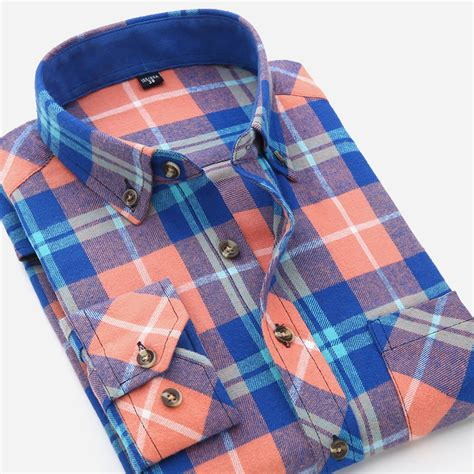 Kemeja Flannel Flannel Branded Premium 23 vfan flannel plaid shirts 2016 new autumn luxury slim sleeve brand formal business