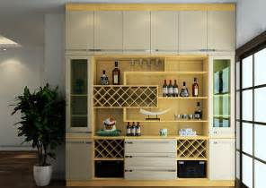 modern dining room with wine display cabinet 3d house