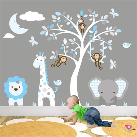 nursery wall decals uk jungle animal nursery wall stickers