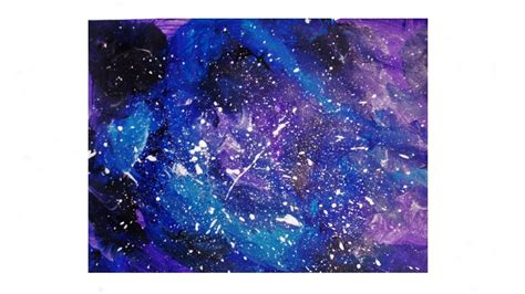 acrylic paint tutorial galaxy how to paint galaxy using acrylic in 5 minutes easiest