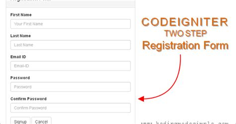 codeigniter tutorial user registration how to create simple registration form in codeigniter with