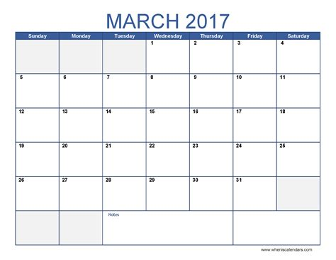 printable march 2017 calendar template calendar and images
