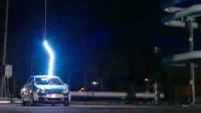Lighting Hits A Car Car Lightning