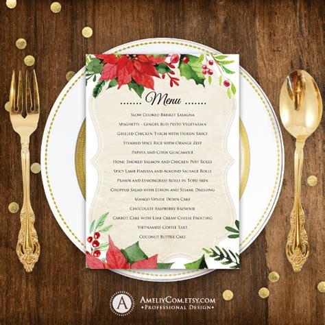 printable christmas menu cards 18 holiday menu templates free sle exle format