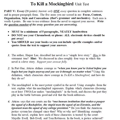 To Kill A Mocking Bird Essay by To Kill A Mockingbird Essay On Courage