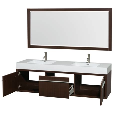 Modern Bathroom Hms Axa 72 Quot Vanity Integrated Sinks Contemporary