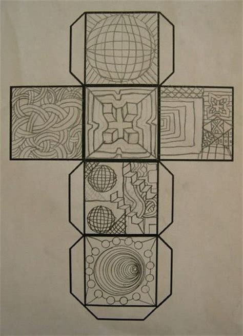 art lesson gr 5 op art cube school planning juxtapost