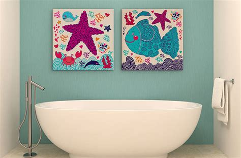 painting ideas for bathrooms canvas painting ideas for tricky spaces wall prints