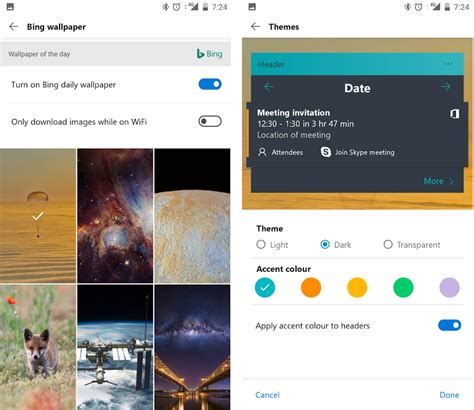 microsoft launcher themes microsoft launcher for android features download