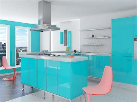 30 eye catchy kitchen wall d 233 cor ideas digsdigs 26 eye catching blue kitchen designs