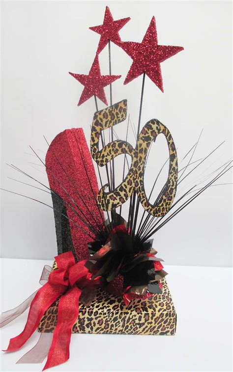 Hollywood Christmas Decorations - birthday centerpieces with high heeled shoe designs by ginny