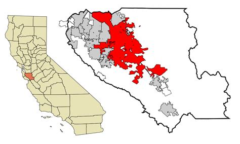 san jose county map file santa clara county california incorporated and