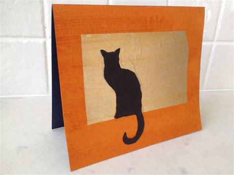 how to make a cat card joss paper cat picture cat silhouette cat card