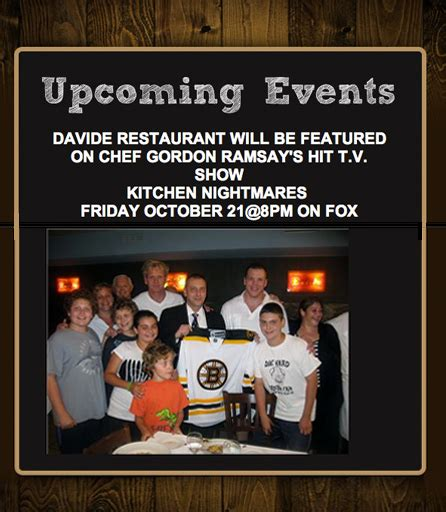 Kitchen Nightmares Boston by Davide Restaurant Featured By Chef Ramsay S Hit Tv Show