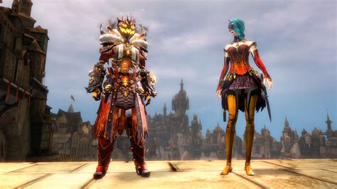 guild wars 2 dye lunatic guard outfit ghoul backpack and mad king s dye