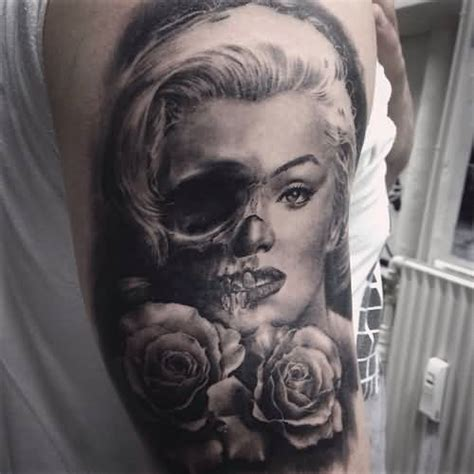 17 marilyn monroe skull tattoos