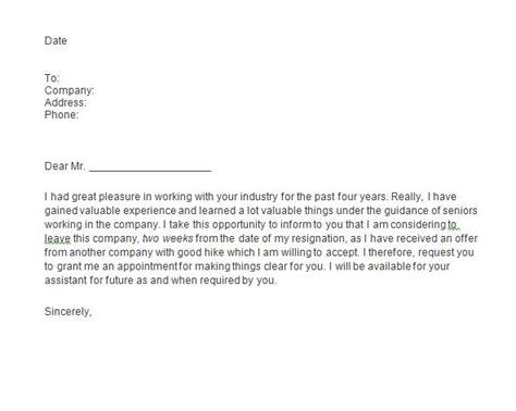 25 unique short resignation letter ideas on pinterest two week