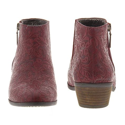 trash boat bass tabs very volatile fairchild tooled embossed ankle boot