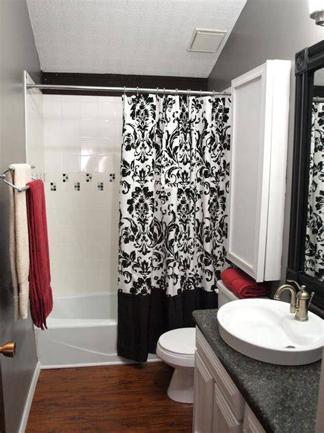 black  white bathrooms hgtv