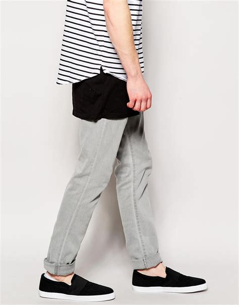 the all encompassing grey gray edwin jeans ed85 skinny fit lightning grey in gray for men