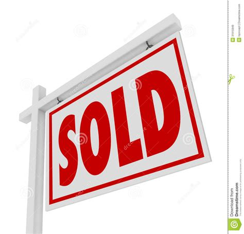 white house realty sold home for sale real estate sign isolated royalty free stock photo cartoondealer