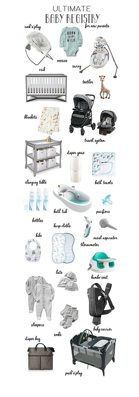 Wedding Necessities Checklist by Ultimate Baby Registry For New Parents A List Of