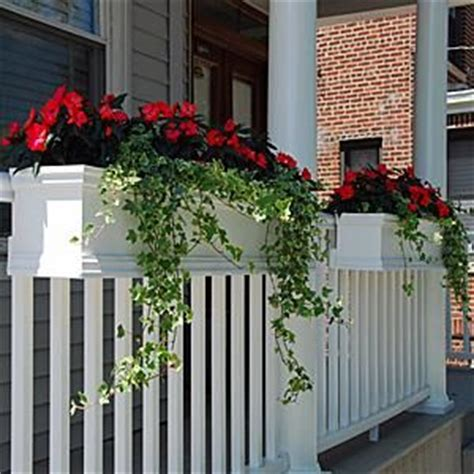 window box planters for railings 25 best ideas about deck railing planters on