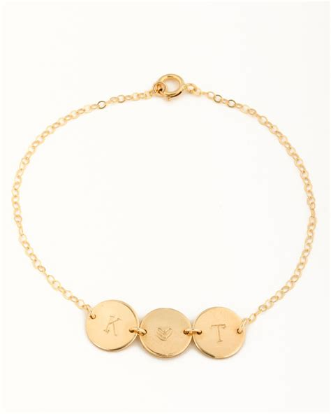 personalized bracelet for initial bracelet
