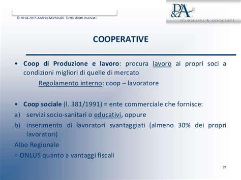regolamento interno cooperative cultura e forme di impresa