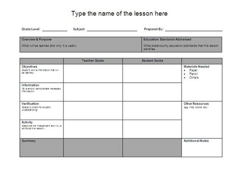 lesson plan template for word lesson plan template word vnzgames