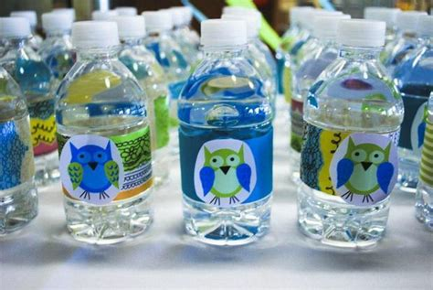 Owl Baby Shower Decorations For Boy by Owl Baby Boy Shower Theme Decoration Ideas Water Bottles