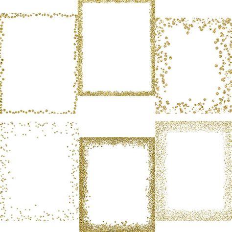 sparkling confetti overlay clipart gold glitter gold confetti frames and corners glitter confetti