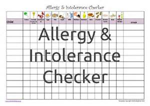 Allergy Chart Healthy Pack Mindingkids