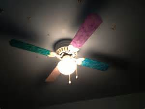 rainbow painted ceiling fan my