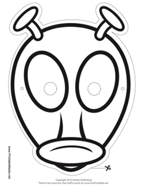 printable alien mask template printable alien with antenna mask to color mask